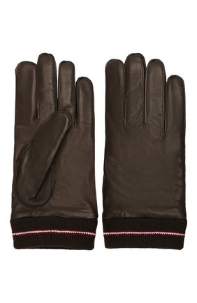 Мужские кожаные перчатки BALLY коричневого цвета, арт. M9P0030L-1S134/595 | Фото 2 (Мужское Кросс-КТ: Кожа и замша)