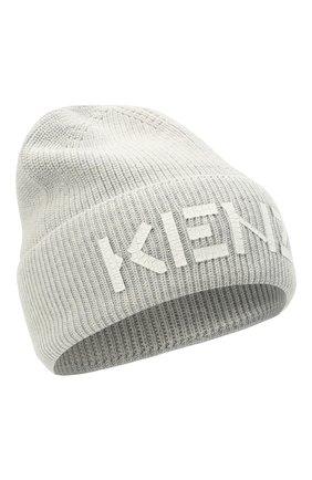 Мужская шерстяная шапка KENZO светло-серого цвета, арт. FA68BU111KEK | Фото 1 (Материал: Шерсть; Кросс-КТ: Трикотаж)