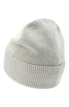 Мужская шерстяная шапка KENZO светло-серого цвета, арт. FA68BU111KEK | Фото 2 (Материал: Шерсть; Кросс-КТ: Трикотаж)