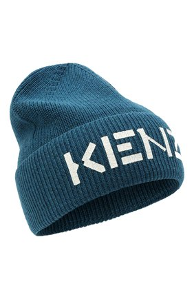 Мужская шерстяная шапка KENZO синего цвета, арт. FA68BU111KEK | Фото 1