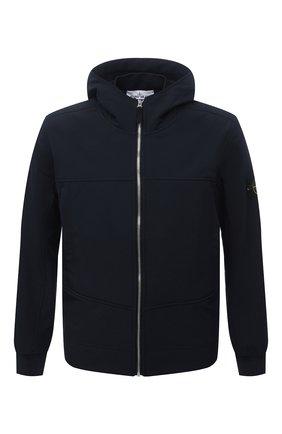 Мужская куртка STONE ISLAND темно-синего цвета, арт. 7515Q0122 | Фото 1 (Материал внешний: Синтетический материал; Материал подклада: Синтетический материал; Кросс-КТ: Куртка, Ветровка; Длина (верхняя одежда): Короткие; Стили: Кэжуэл; Рукава: Длинные)