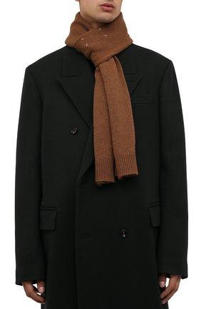 Мужской шерстяной шарф MAISON MARGIELA светло-коричневого цвета, арт. S51TE0090/S17486 | Фото 2