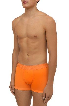Мужские хлопковые боксеры DOLCE & GABBANA оранжевого цвета, арт. M4D04J/0UAIG | Фото 2 (Материал внешний: Хлопок; Мужское Кросс-КТ: Трусы; Кросс-КТ: бельё)