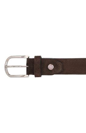 Мужской замшевый ремень BRIONI коричневого цвета, арт. 0BAN0L/09722 | Фото 4 (Случай: Формальный)