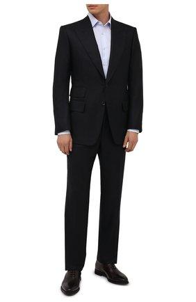 Мужские кожаные оксфорды BARRETT бордового цвета, арт. 192U043.15/BETIS CREAM | Фото 2 (Материал утеплителя: Натуральный мех; Стили: Классический)