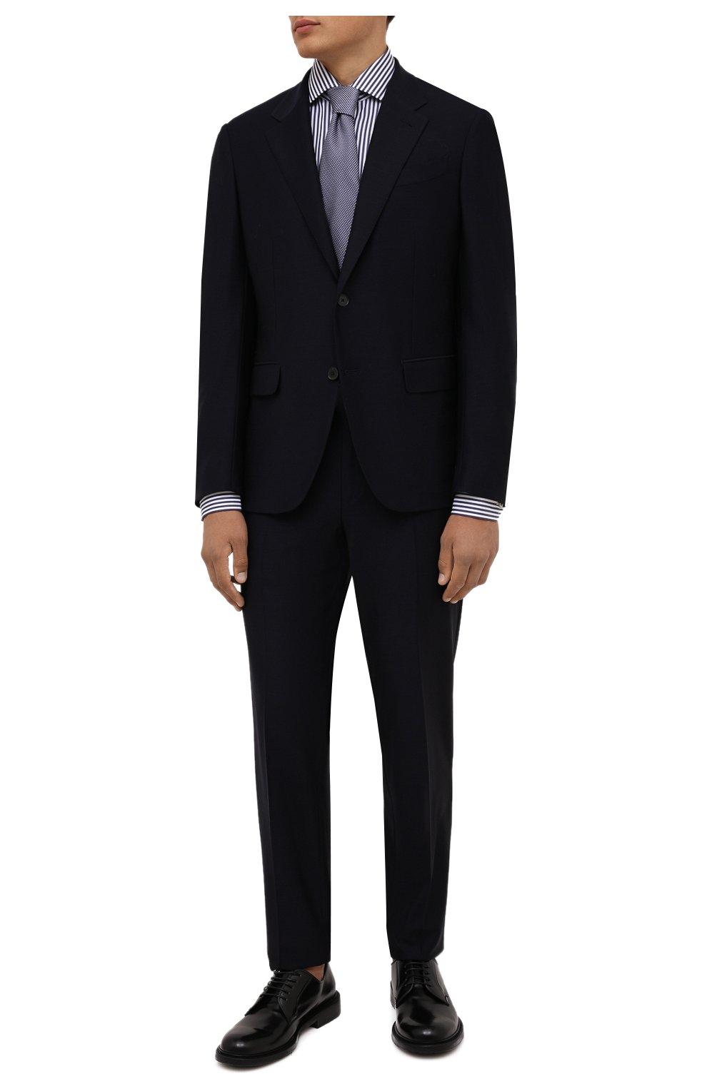 Мужские кожаные дерби BARRETT черного цвета, арт. 192U050.31/P0LISHED B   Фото 2 (Материал внутренний: Натуральная кожа; Стили: Классический)