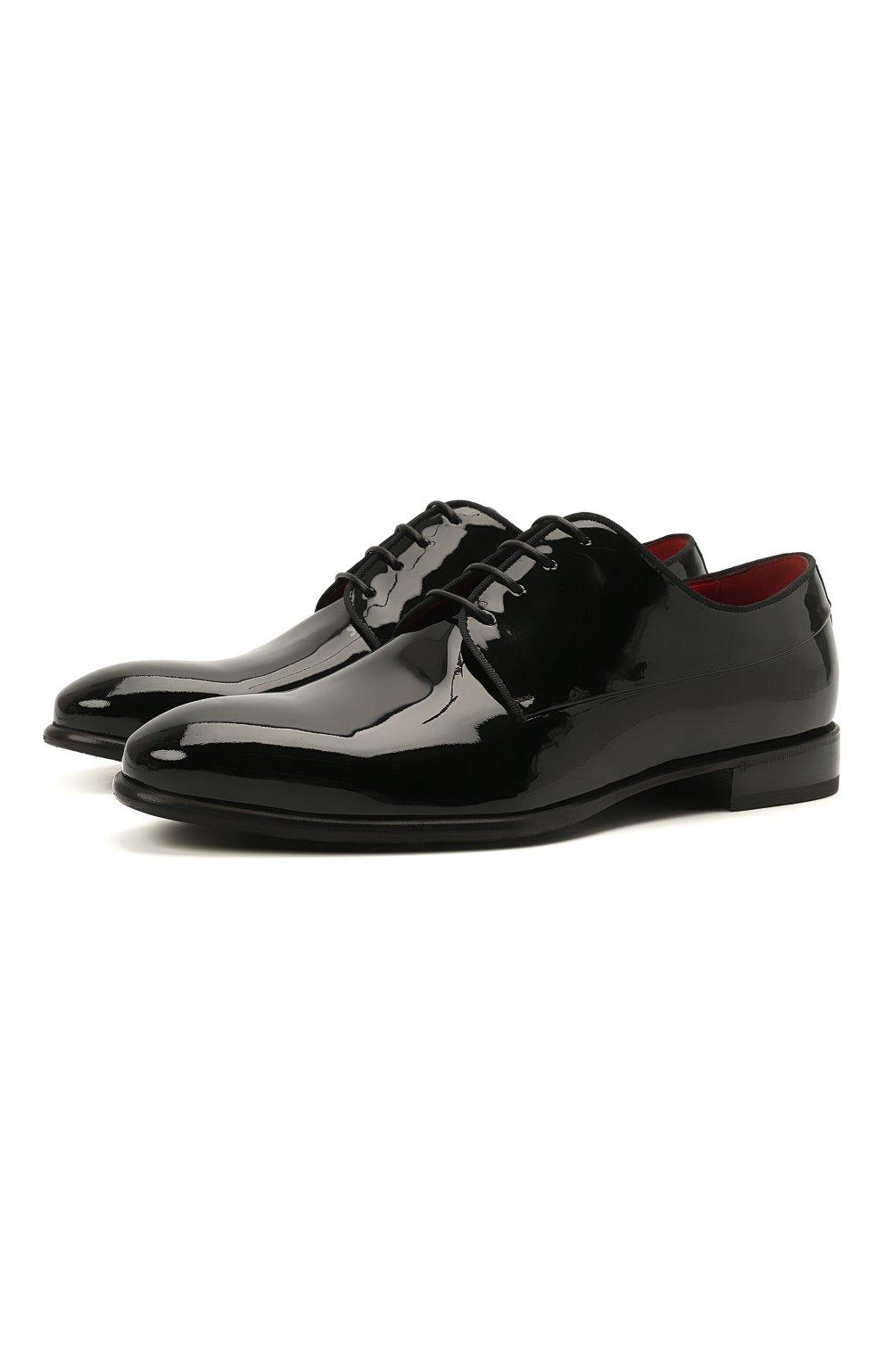 Мужские кожаные дерби BARRETT черного цвета, арт. 212U006.1/VERNICE | Фото 1 (Материал внутренний: Натуральная кожа; Стили: Классический; Мужское Кросс-КТ: Вечерняя обувь)