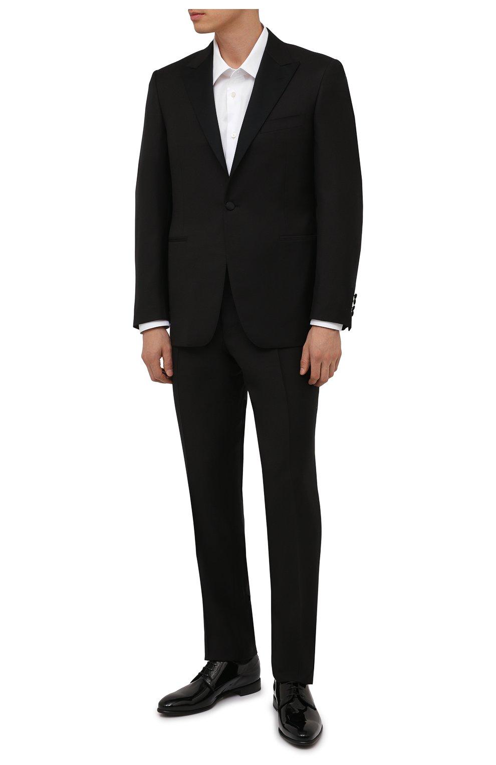 Мужские кожаные дерби BARRETT черного цвета, арт. 212U006.1/VERNICE | Фото 2 (Материал внутренний: Натуральная кожа; Стили: Классический; Мужское Кросс-КТ: Вечерняя обувь)