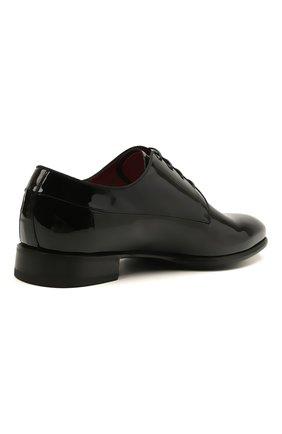 Мужские кожаные дерби BARRETT черного цвета, арт. 212U006.1/VERNICE | Фото 4 (Материал внутренний: Натуральная кожа; Стили: Классический; Мужское Кросс-КТ: Вечерняя обувь)