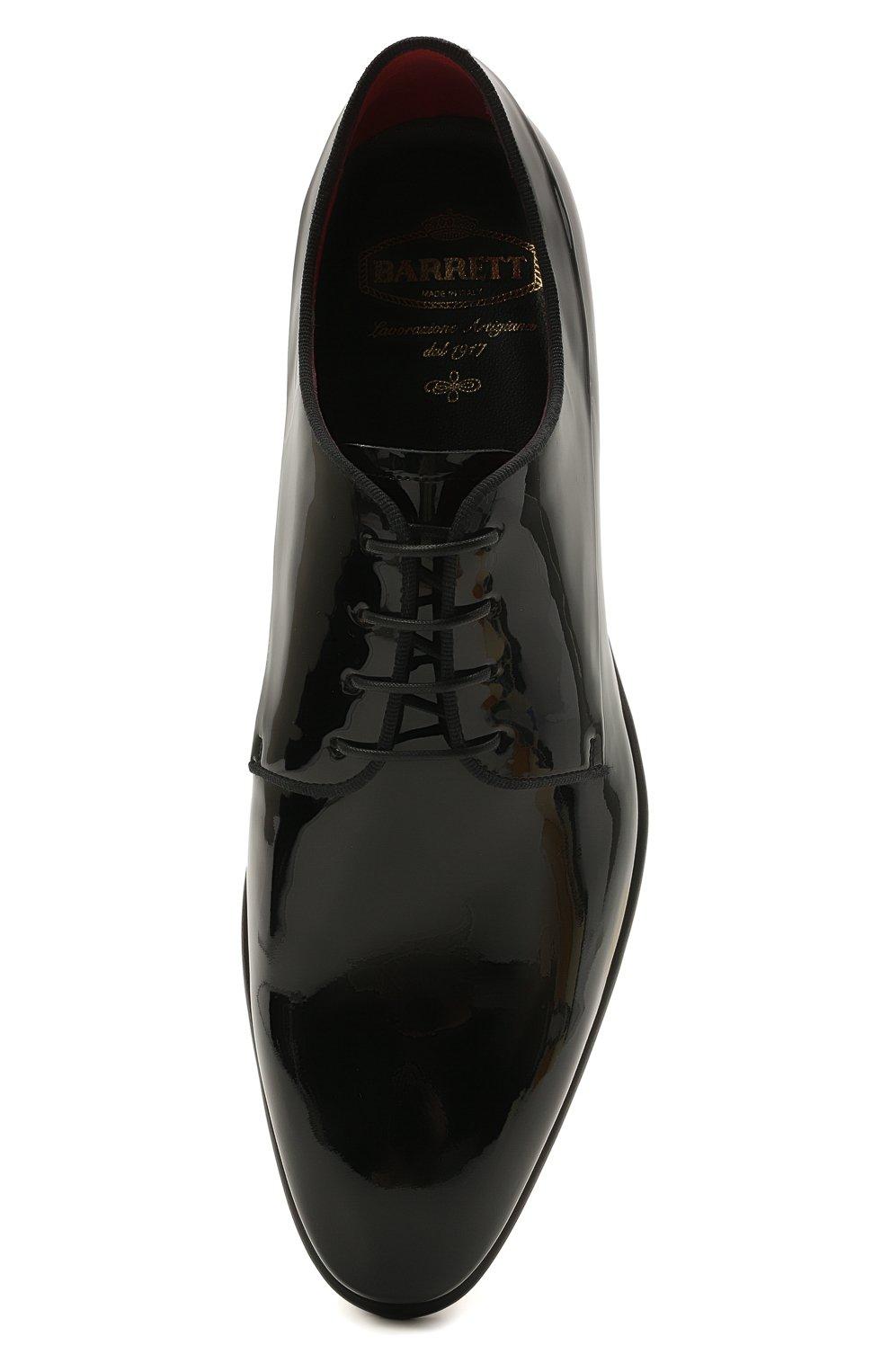 Мужские кожаные дерби BARRETT черного цвета, арт. 212U006.1/VERNICE | Фото 5 (Материал внутренний: Натуральная кожа; Стили: Классический; Мужское Кросс-КТ: Вечерняя обувь)