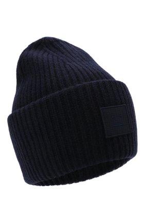Мужская шерстяная шапка ACNE STUDIOS темно-синего цвета, арт. C40135/M | Фото 1 (Материал: Шерсть; Кросс-КТ: Трикотаж)