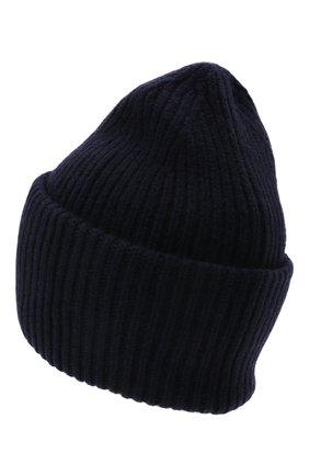 Мужская шерстяная шапка ACNE STUDIOS темно-синего цвета, арт. C40135/M | Фото 2 (Материал: Шерсть; Кросс-КТ: Трикотаж)
