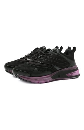 Мужские комбинированные кроссовки giv 1 GIVENCHY черного цвета, арт. BH004WH0WL | Фото 1 (Материал внутренний: Натуральная кожа, Текстиль; Подошва: Массивная; Стили: Гранж)