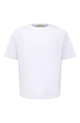 Мужская хлопковая футболка MARNI белого цвета, арт. HUMU0009Q0/UTC017 | Фото 1