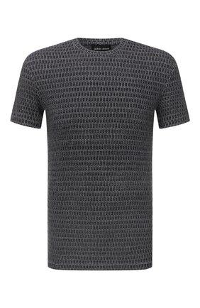 Мужская футболка из вискозы GIORGIO ARMANI серого цвета, арт. 6KSM66/SJNKZ | Фото 1