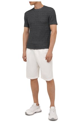 Мужская футболка из вискозы GIORGIO ARMANI серого цвета, арт. 6KSM66/SJNKZ | Фото 2