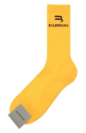 Мужские носки BALENCIAGA оранжевого цвета, арт. 659279/4A8B4 | Фото 1
