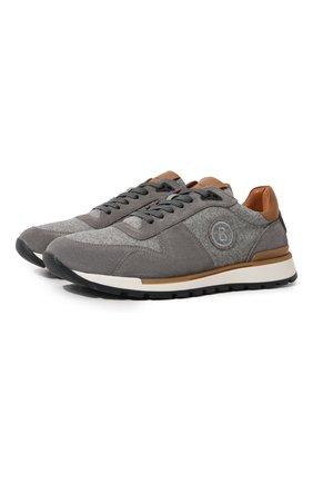 Мужские комбинированные кроссовки BOGNER светло-серого цвета, арт. 12140401/NEW LIVIGN0 2 | Фото 1 (Подошва: Массивная; Материал внутренний: Натуральная кожа; Стили: Классический)