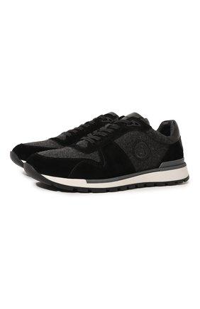 Мужские комбинированные кроссовки BOGNER темно-серого цвета, арт. 12140401/NEW LIVIGN0 2 | Фото 1 (Материал внутренний: Натуральная кожа; Стили: Классический; Подошва: Массивная)