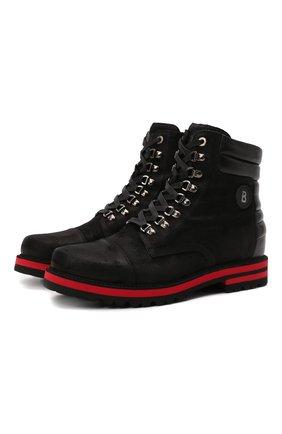 Мужские кожаные ботинки BOGNER черного цвета, арт. 12141832/C0URCHEVEL M 5 C | Фото 1 (Материал внутренний: Текстиль; Подошва: Плоская; Мужское Кросс-КТ: Ботинки-обувь, Хайкеры-обувь)