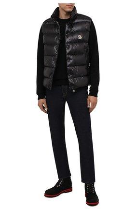 Мужские кожаные ботинки BOGNER черного цвета, арт. 12141832/C0URCHEVEL M 5 C | Фото 2 (Материал внутренний: Текстиль; Подошва: Плоская; Мужское Кросс-КТ: Ботинки-обувь, Хайкеры-обувь)