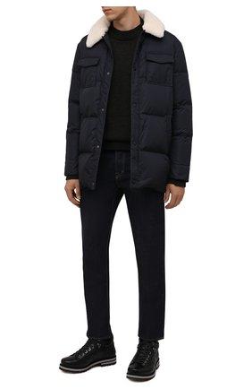 Мужские кожаные ботинки BOGNER черного цвета, арт. 12141843/C0URCHEVEL M 8 C | Фото 2 (Материал утеплителя: Натуральный мех; Подошва: Плоская; Мужское Кросс-КТ: Ботинки-обувь, зимние ботинки)