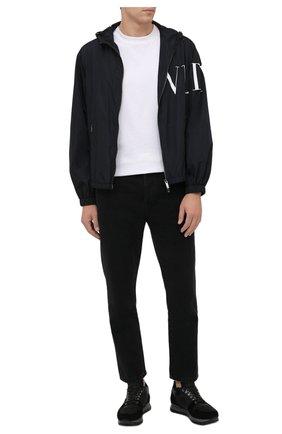 Мужские комбинированные кроссовки BOGNER темно-серого цвета, арт. 12149363/SEATTLE M 9 A | Фото 2 (Материал утеплителя: Натуральный мех; Стили: Классический; Подошва: Массивная)