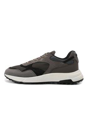 Мужские комбинированные кроссовки HOGAN серого цвета, арт. HXM5630DM90QDH   Фото 3 (Материал внешний: Текстиль; Материал внутренний: Текстиль; Подошва: Массивная)