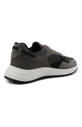 Мужские комбинированные кроссовки HOGAN серого цвета, арт. HXM5630DM90QDH   Фото 4 (Материал внешний: Текстиль; Материал внутренний: Текстиль; Подошва: Массивная)