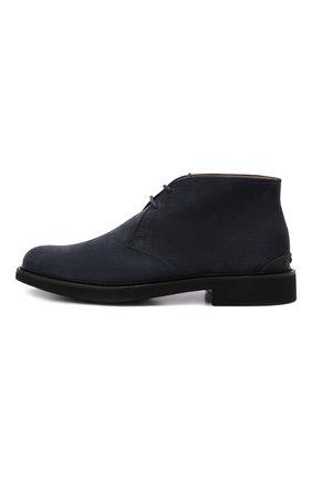 Мужские замшевые ботинки TOD'S темно-синего цвета, арт. XXM06H00D80RE0   Фото 4 (Мужское Кросс-КТ: Ботинки-обувь, Дезерты-обувь; Материал внутренний: Натуральная кожа; Подошва: Плоская; Материал внешний: Замша)