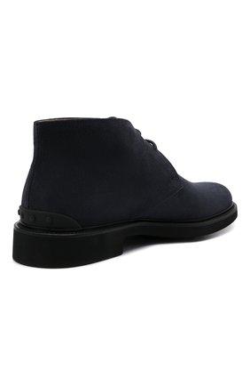 Мужские замшевые ботинки TOD'S темно-синего цвета, арт. XXM06H00D80RE0   Фото 5 (Мужское Кросс-КТ: Ботинки-обувь, Дезерты-обувь; Материал внутренний: Натуральная кожа; Подошва: Плоская; Материал внешний: Замша)