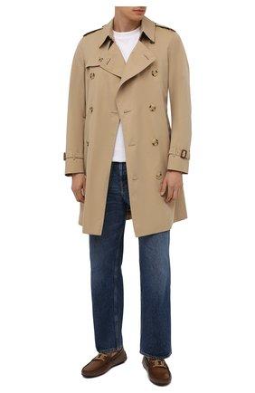 Мужские кожаные мокасины TOD'S коричневого цвета, арт. XXM42C0E041D9C | Фото 2 (Материал внутренний: Натуральная кожа)