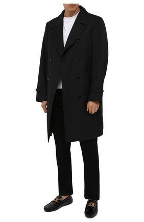 Мужские кожаные мокасины TOD'S черного цвета, арт. XXM42C0E041LYG | Фото 2 (Материал внутренний: Натуральная кожа)