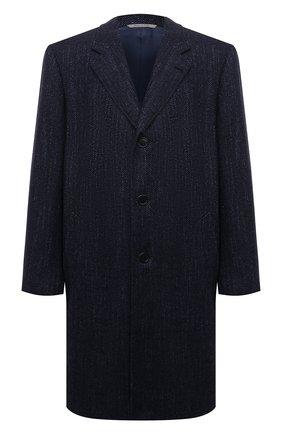 Мужской пальто из шерсти и шелка CANALI темно-синего цвета, арт. 57118/FF02826   Фото 1