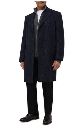 Мужской пальто из шерсти и шелка CANALI темно-синего цвета, арт. 57118/FF02826   Фото 2