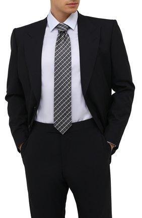 Мужской шелковый галстук CANALI темно-серого цвета, арт. 24/HJ03266   Фото 2
