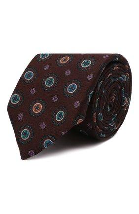 Мужской шерстяной галстук CANALI бордового цвета, арт. 18/HS03276   Фото 1