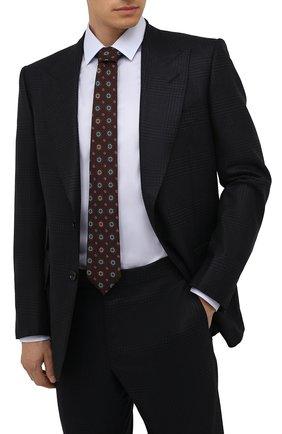 Мужской шерстяной галстук CANALI бордового цвета, арт. 18/HS03276   Фото 2