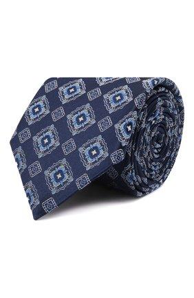 Мужской шелковый галстук CANALI синего цвета, арт. 18/HJ03259 | Фото 1 (Материал: Текстиль, Шелк; Принт: С принтом)