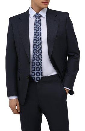 Мужской шелковый галстук CANALI синего цвета, арт. 18/HJ03259 | Фото 2 (Материал: Текстиль, Шелк; Принт: С принтом)