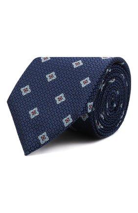 Мужской шелковый галстук CANALI темно-синего цвета, арт. 18/HJ03253   Фото 1