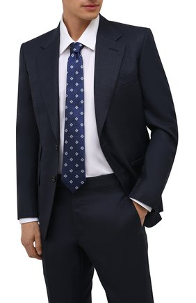 Мужской шелковый галстук CANALI темно-синего цвета, арт. 18/HJ03253   Фото 2