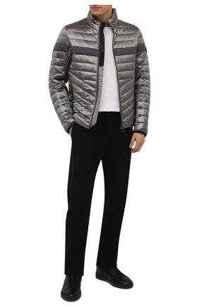 Мужские кожаные кеды SANTONI черного цвета, арт. MBGT21557NE0PNHRN01 | Фото 2