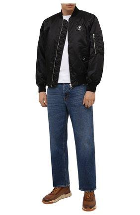 Мужские кожаные кроссовки SANTONI светло-коричневого цвета, арт. MBIM21611CGMTDYEC40 | Фото 2 (Материал внутренний: Натуральная кожа; Подошва: Массивная; Стили: Классический)