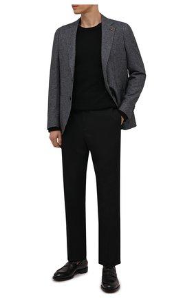 Мужской пиджак из шерсти и хлопка SARTORIA LATORRE серого цвета, арт. JEF74 JA4102   Фото 2 (Материал внешний: Хлопок, Шерсть; Материал подклада: Вискоза; 1-2-бортные: Однобортные; Случай: Повседневный; Стили: Кэжуэл; Пиджаки М: Приталенный; Рукава: Длинные; Длина (для топов): Стандартные)