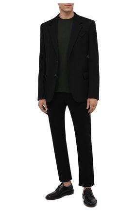 Мужская хлопковая футболка DRIES VAN NOTEN темно-зеленого цвета, арт. 212-021194-3600 | Фото 2 (Материал внешний: Хлопок; Принт: Без принта; Рукава: Короткие; Стили: Кэжуэл; Длина (для топов): Стандартные)
