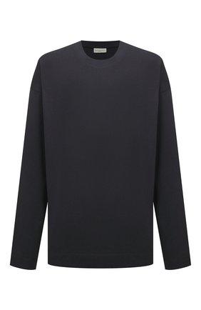 Мужская хлопковый лонгслив DRIES VAN NOTEN темно-серого цвета, арт. 212-021161-3604 | Фото 1