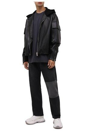 Мужская хлопковый лонгслив DRIES VAN NOTEN темно-серого цвета, арт. 212-021161-3604 | Фото 2
