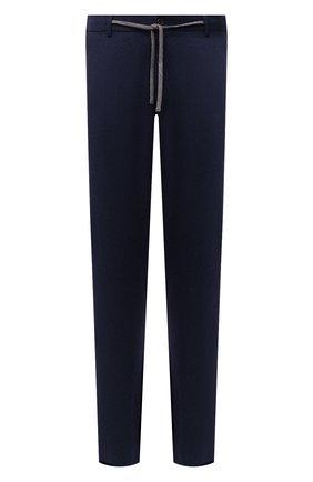 Мужские шерстяные брюки CANALI темно-синего цвета, арт. V1659/AR03472 | Фото 1 (Материал внешний: Шерсть; Случай: Повседневный; Стили: Кэжуэл; Длина (брюки, джинсы): Стандартные)