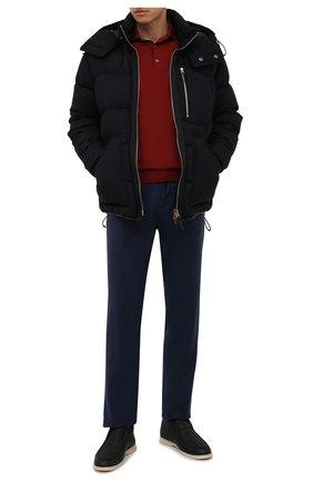 Мужские шерстяные брюки CANALI темно-синего цвета, арт. V1659/AR03472 | Фото 2 (Материал внешний: Шерсть; Случай: Повседневный; Стили: Кэжуэл; Длина (брюки, джинсы): Стандартные)